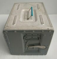 Vintage Air France Airlines Metal Food Service Container Galley Box Aluminum