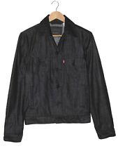 Levi's Red Tab Black Denim Trucker Jean Jacket S Button Front EUC Rare