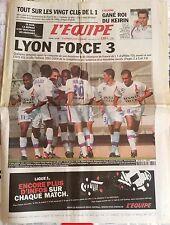 L'Equipe Journal 1/8/2003; Lyon force 3/ Gané roi du Keirin/ Le Guen