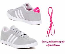Adidas NEO Women's Courtset W ~ Clear Onix White Shock Pink 7 M ~ New In Box!!