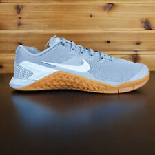 Nike Metcon 4 Men's Training Shoes Gray Gum White Workout Gym CrossFit