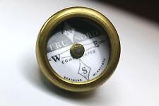 "TRU NORD COMPASS BRASS MIXED METAL BRANARD MIN. 1 1/8 X 2 5/8"""