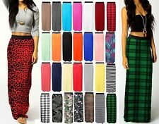 New Ladies Women Plus Size Gypsy Long Jersey Maxi Dress Skirt Ladies Skirt 8-26