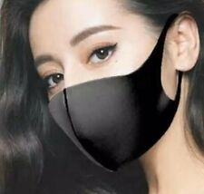 black face mask covering sport outdoor indoor reusable cloth face stretch covers