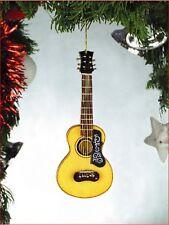 "Miniature 5"" Spanish Guitar with flower pick guard Hanging Tree Ornament OGU12"