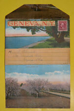 Souvenir Folder of Geneva New York 1915's Postcard Folder Great Pictures! See!