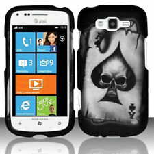 For Samsung Focus 2 i667 Rubberized HARD Protector Case Phone Cover Spade Skull
