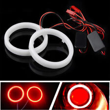2x Car 90mm 6000K Red COB LED Angel Eyes Halo Ring with Cover Fog light