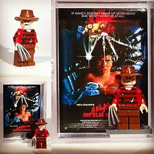 Freddy Krueger Nightmare ON Elm Street MINIFIGURE215 w Display Case Lego Custom
