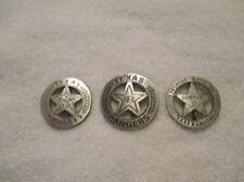 Old West Obsolete Texas Rangers 3 Badge Set