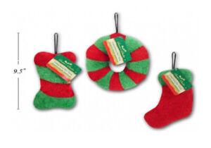 Xmas Plush Pet Toys Christmas Dog Toys for Small Dogs, Christmas Dog Gifts