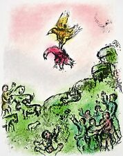 The Goshawk & the Dove The Odyessy 1989 Limited Edition Lithograph Marc Chagall