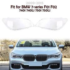2x Headlight Lens Headlamp Cover Set For BMW F02 740 750 760 i Li F01 2009-2015