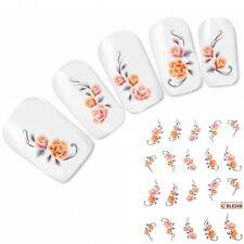 Nagel Sticker Flower Tattoo Nail Art Blume Rose Aufkleber Neu!