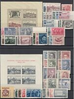 AH5114/ CZECHOSLOVAKIA – 1949 / 1951 MINT MNH SEMI MODERN LOT – CV 210 $