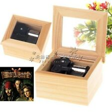 Natural Wooden [ Pirates of Caribbean - { He's A Pirate} Wind Up Music Box
