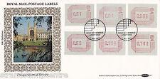 1984 Frama Labels - Benham D08a - Five Covers - Five Locations - Five Cancels