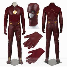 The Flash Season 2 SuperHero Costume Barry Allen Cosplay Flash Costume All Size