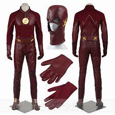 The Flash SuperHero Customized Costume Barry Allen Cosplay Flash Costume FullSet