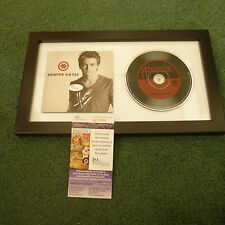 HUNTER HAYES AUTOGRAPHED FRAMED SELF TITLED CD COVER SIGNED JSA AUTHENTICATED