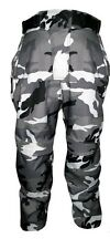 TEXTILE CORDURA MOTORCYCLE MOTORBIKE CE APPROVED GREY CAMO TROUSERS MOTO PANTS