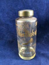 Vintage Shu Mak Up Bottle Vanity Dresser Decor Trinket Bottle Supply Holder
