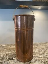 Revere Ware Copper Umbrella Stand With Wood Handle Extremely Rare Vintage