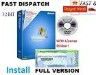 Windows XP Professional SP3 + ORIGINAL COA License / Product Key + 32-bit CD