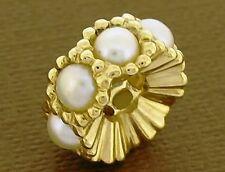 Bd064- Large Genuine 9K  9ct Solid Gold NATURAL Pearl Bead for European Bracelet
