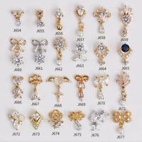 10pcs/lot 3D Tassel Pendant Alloy Nail Art Zircon Crystal Rhinestone Pearl charm