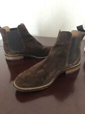 Mens John Lewis Brown Suede Chelsea Boots Size UK 7