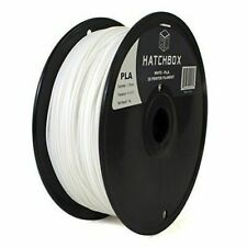HATCHBOX White Filament 3D Printer 3D PLA-1KG1.75-WHT 1.75mm 1Kg Spool