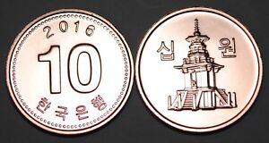 2016 South Korea 10 Won Coin BU Very Nice  KM# 103