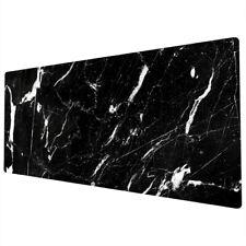 90x40cm Extra Large Xxl Mouse Mat Pad Desk Full Desk Black White Marble