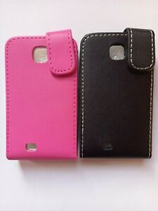 Vertical style PU leather flip phone case, cover for Samsung Galaxy Mini s5570
