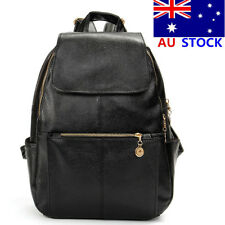 AU  Women PU Leather Backpack Satchel Shoulder Handbag School Bag Black Fashion