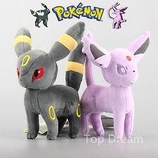 2X Pokemon Plush Espeon & Umbreon Soft Toy Stuffed Animal Doll Teddy 8'' Gift