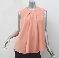 BALENCIAGA Womens Coral Sleeveless Draped Pleated Top Shirt Blouse 40/8 NEW