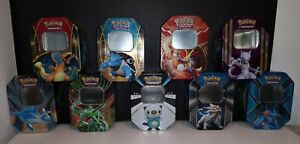 Pokemon Lot of 9 Empty Collector Cards Tins