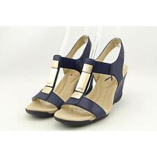 Anne Klein AK Loona Women US 9 Blue Wedge Sandal Blemish  16957