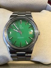 Omega Seamaster Automatic green dial stainless steel bracelet 70s