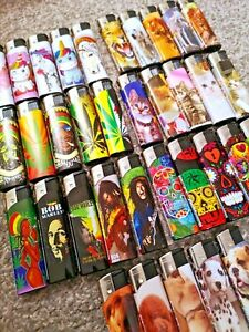 4 PACK / 5 PACK GSD ELECTRONIC REFILLABLE LIGHTERS MULTI PACK ASSORTED DESIGNS