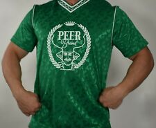 MEN'S USED SOCCER SHORT SLEEVE GREEN JERSEY ADULT LARGE
