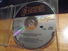 RARE PROMO Saxon CD sngle Requiem (We Will Remember) metal Fastway Oliver/Dawson