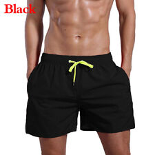Men Summer Beach Board Shorts Gym Sports Swim Jogging Swimwear Short Pants 82UK