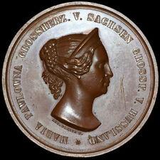 Rusia/Sajonia-Weimar: bronce-medalla 1854, Facius. María Pávlovna.