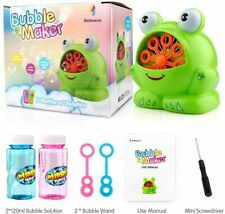 Bubble Machine,Automatic Durable Bubble Maker New Design Of Frog Shape For Kids