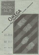 W4122 Orologio OMEGA - Nuovo Calibro 14,8 -  Pubblicità del 1930 - Vintage ad