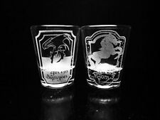 Lord of the Rings Inspired Shot Glass Set -Green Dragon/Prancing Pony