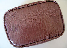 Bare Escentuals SAN FRANCISCO BROWN COSMETIC MAKEUP BAG